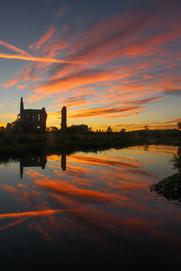 Newark Priory at sunset