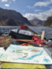 Map reading on Loch Shiel