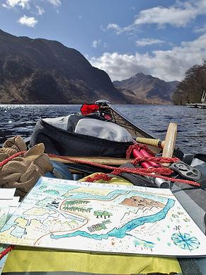 Map reading on Loch Shiel