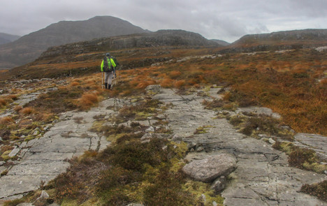 Heading for rough country in the Rhinogs