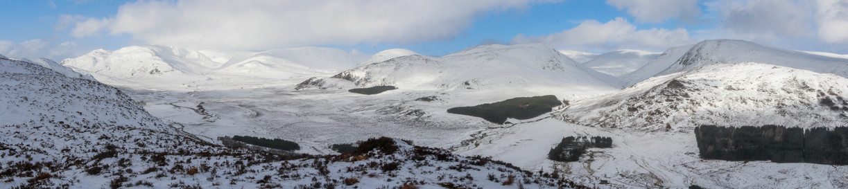 The Monadhliath hills