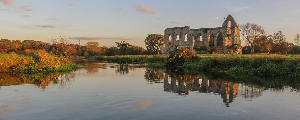 Newark Priory on the River Wey