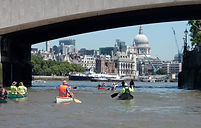 canoeing, thames, through London, Tower Bridge, tideway