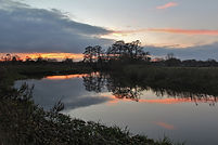 River Wey, canoeing, sunset, reflections, Triggs Lock