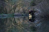 Basingstoke Canal, canoeing, Winchfield Hurst