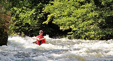 canoeing, whitewater, Massif Central, Allier, Jewel in the Crown, pinned canoe