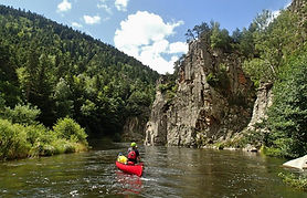 canoeing, Allier, Chapeauroux, Pont d'Alleyras, Whitewater Massif Cental, Jewel in the Crown