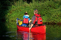 River Wey, canoeing, wild camping, Old Woking, Gresham