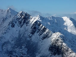 Kintail, Forcan Ridge, winter, walking, Faochag