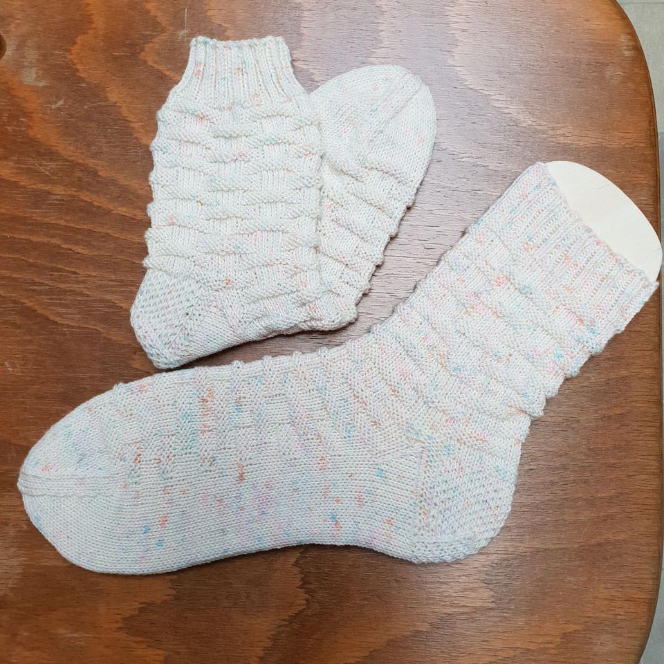 Socken gesprenkelt