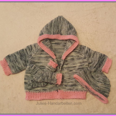 Baby Jacke +Mütze +SockenBabyjacke