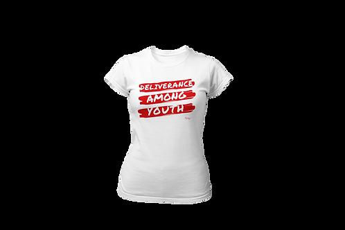 WOMEN'S T-SHIRT (White/Red)