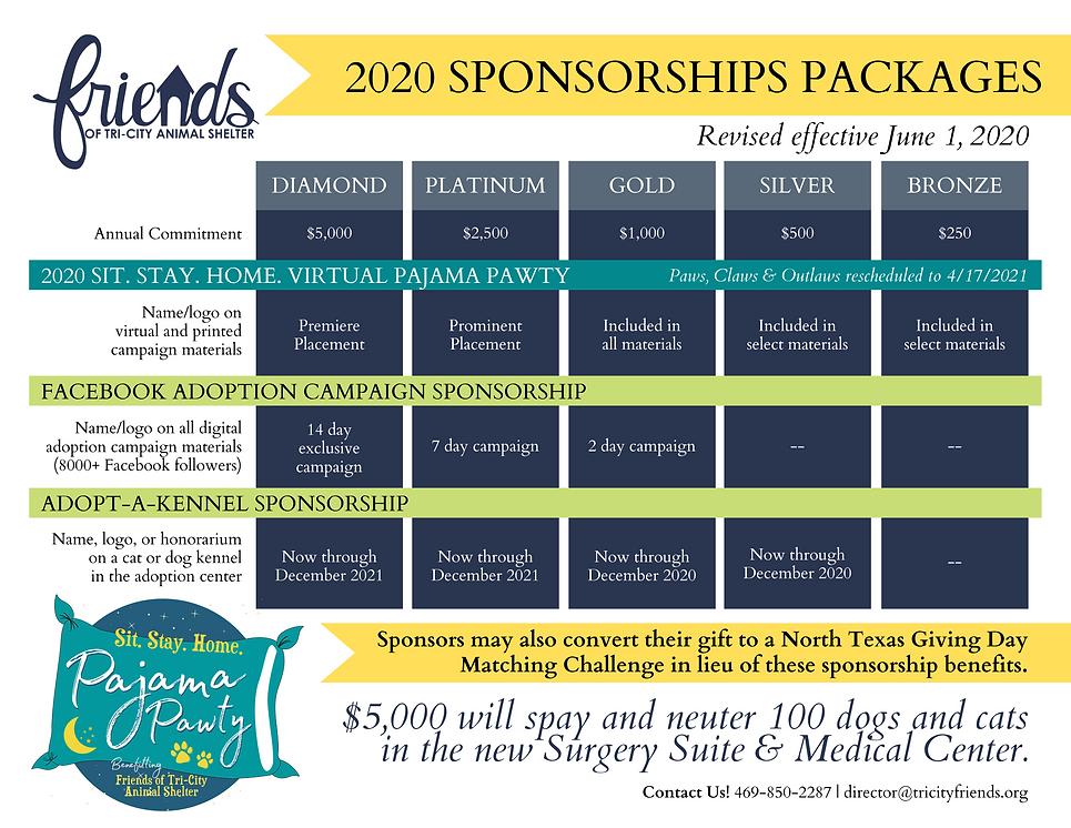 REVISED 2020 + GALA 2021 Sponsor Package
