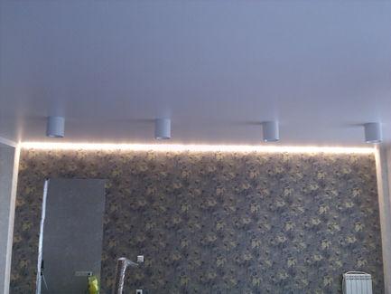 Парящий натяжной потолок 15м2