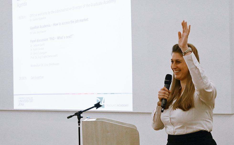 Dr. Lisa Steinhauser Vortrag Podiumsdisk