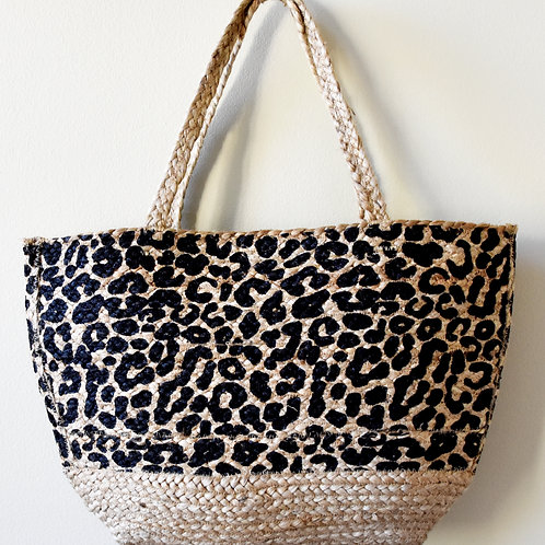 Leopard Jute Big Basket