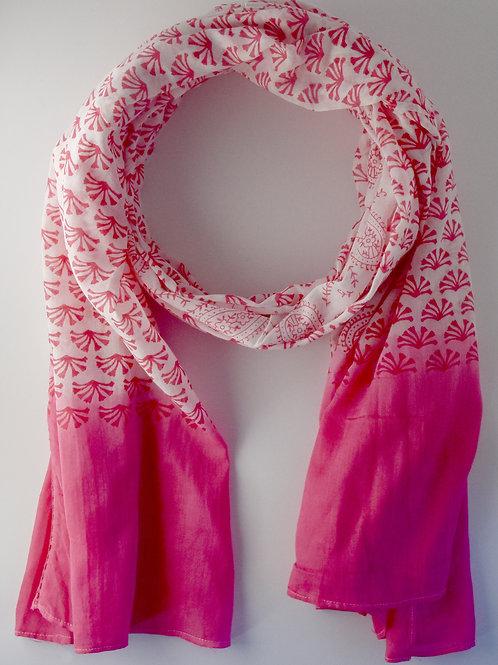 Pink Mixed Print Scarf