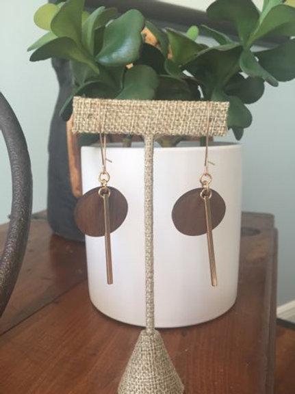 Dot Wood Earrings