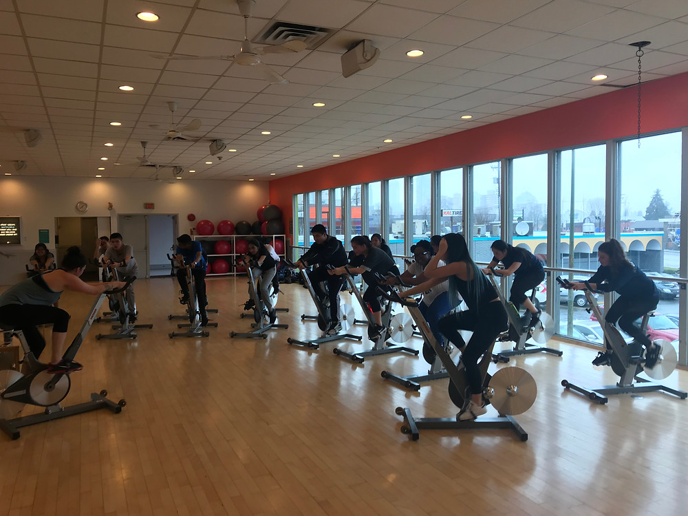 Spin Class to train for our upcoming bike trip