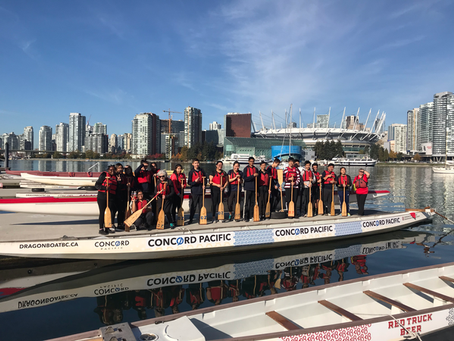 Dragon Boating with Leadership 10 and 11
