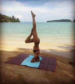 Yoga on the beach!