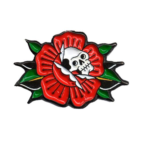 Pin Skull & Rose