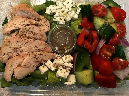 Salade grecque au poulet