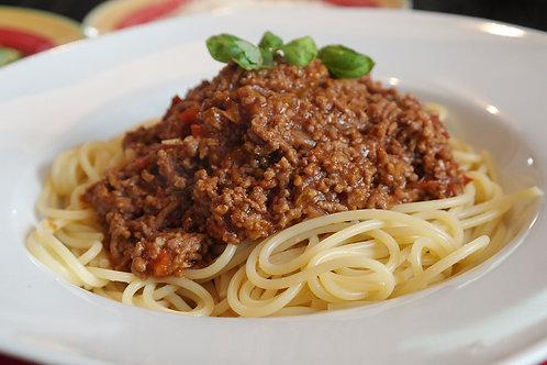 Spaghetti, sauce à la viande