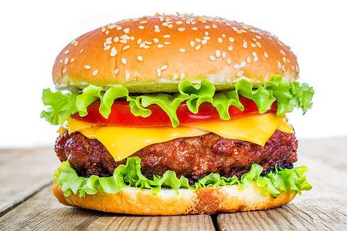 Hamburger au fromage boeuf ou végé