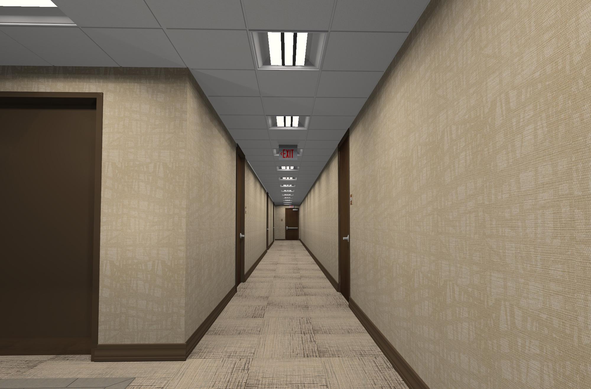 Oakwood Corridor Photoshopped Version