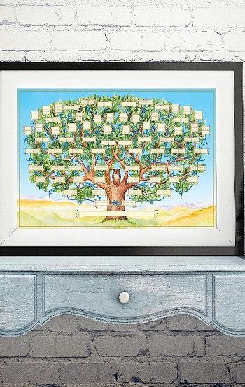 """""""Родословное Древо"""", 60 смх 42 см. На плотной специализированной бумаге."""