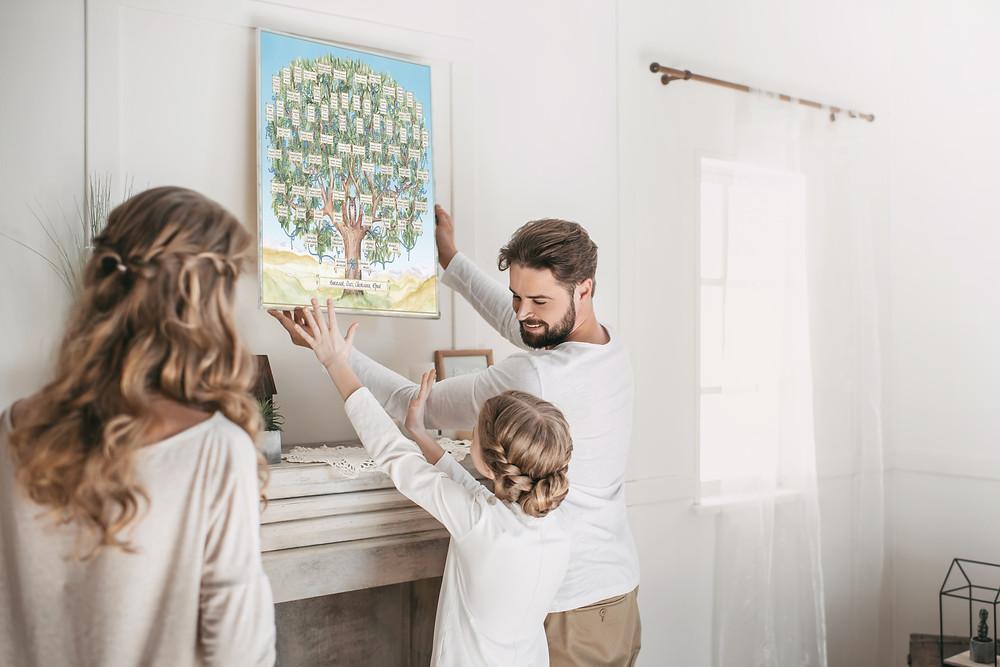 """Семейное «Родословное Древо"""" для самостоятельного заполнения"""