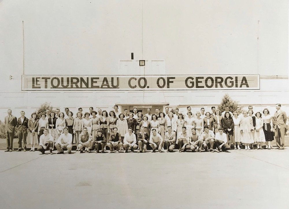 picture of workers at the LeTourneau factory in Georgia