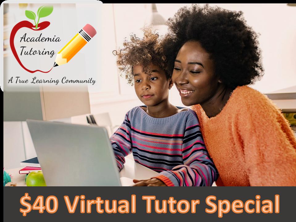 $40 Virtual Tutor