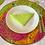 Thumbnail: Set de table rond en Wax multicolore imprimé - Lot de 2