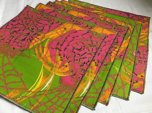 Set de table carré en Wax multicolore imprimé - Lot de 2