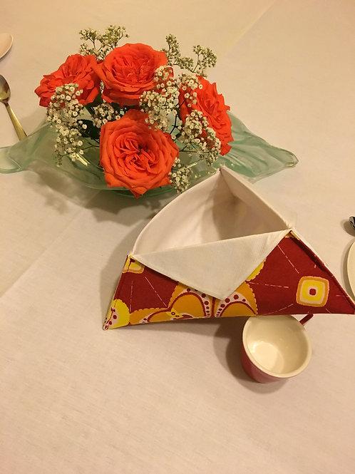 Panière multi usages Wax multicolor imprimé Origami orange