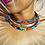 "Thumbnail: Collier plastron en Wax inspiration ethnique ""wakanda"""