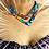 "Thumbnail: Collier plastron en Wax inspiration ethnique V ""wakanda"""