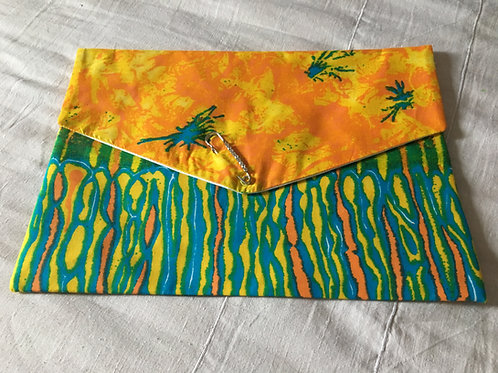 Pochette souple forme enveloppe GM Wax Multicolore Tie and dye