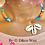 Thumbnail: Collier ras de cou jonc fin en Wax & cauris