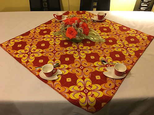 Nappe de table Wax Origami orange/jaune
