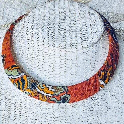 Collier plastron en Wax inspiration Ethnique Moyen