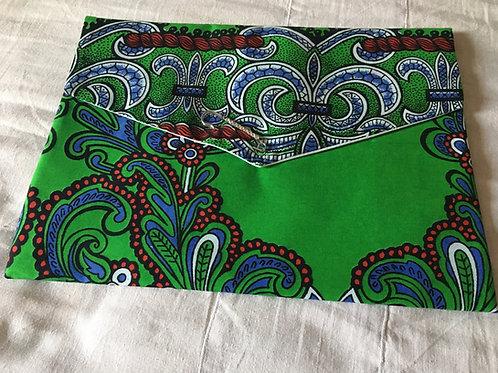 Pochette souple forme enveloppe GM Wax Java colours vert