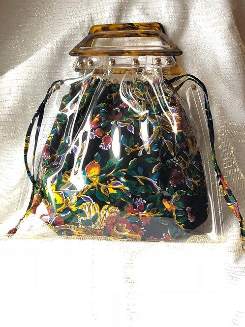 Mini sac cabas bi-matière vinyle & Wax