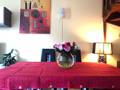 Nappe de table Wax multicolore tie and dye Rectangulaire