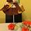 Thumbnail: Jupon d'abat-jour toile de lin et  Wax multicolor imprimé Tie & dye marron multi
