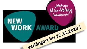AgiWeP ist nominiert! Für den New Work Pioneer Award