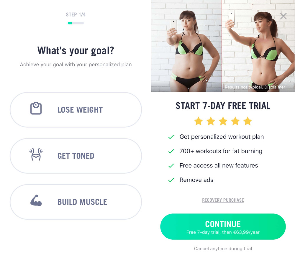 30 Day Fitness Challenge App review