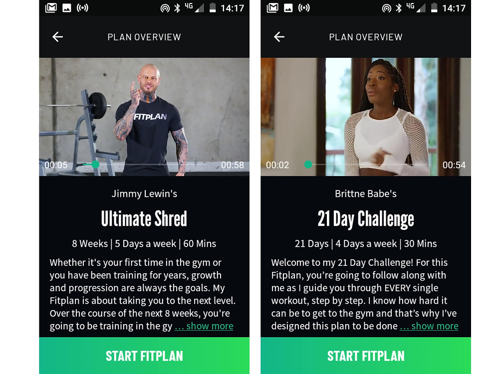 Fitplan app review
